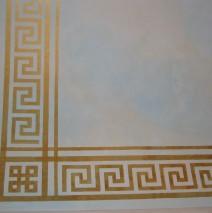 Gold Greek motif on sky ceiling