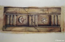 Pompeian faux stone trompe L'oeil