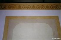 Faux Marble panels & stencil