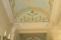 Sky finish with ornamental drawing in Beverly Hills house