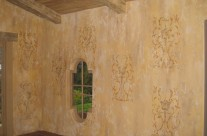 Dining room Fresco in Montecito House