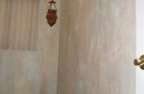 Textured plaster walls