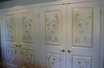 Gold & white cabinet
