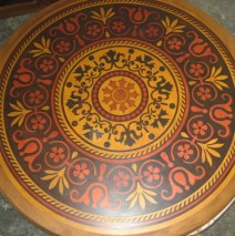 Table top Faux Marquetry