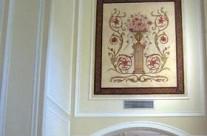 Ornamental mural in La Canada house