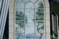 Arch window mural