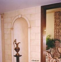 Faux stone & niche