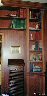 Bookcase Trompe l'oeil