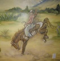Bucking horse mural